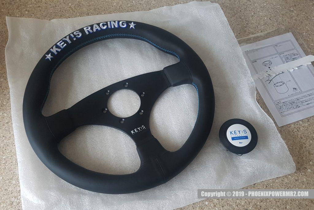 keys racing steering wheel 325mm Flat leather